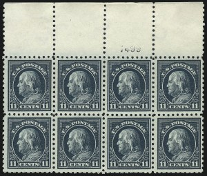 Sale Number 1061, Lot Number 3912, 1912-14 Washington-Franklin Issue (Scott 407-459)11c Dark Green (434, 473), 11c Dark Green (434, 473)