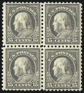 Sale Number 1061, Lot Number 3913, 1912-14 Washington-Franklin Issue (Scott 407-459)15c Gray (437), 15c Gray (437)