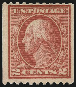 Sale Number 1061, Lot Number 3924, 1912-14 Washington-Franklin Issue (Scott 407-459)2c Red, Ty. I, Coil (449), 2c Red, Ty. I, Coil (449)
