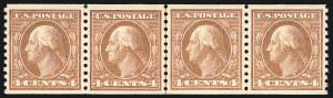 Sale Number 1061, Lot Number 3932, 1912-14 Washington-Franklin Issue (Scott 407-459)4c Brown, Coil (457), 4c Brown, Coil (457)