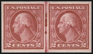 Sale Number 1061, Lot Number 3935, 1912-14 Washington-Franklin Issue (Scott 407-459)2c Carmine, Ty. I, Imperforate Coil (459), 2c Carmine, Ty. I, Imperforate Coil (459)