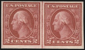 Sale Number 1061, Lot Number 3936, 1912-14 Washington-Franklin Issue (Scott 407-459)2c Carmine, Ty. I, Imperforate Coil (459), 2c Carmine, Ty. I, Imperforate Coil (459)