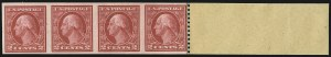 Sale Number 1061, Lot Number 3937, 1912-14 Washington-Franklin Issue (Scott 407-459)2c Carmine, Ty. I, Imperforate Coil (459), 2c Carmine, Ty. I, Imperforate Coil (459)