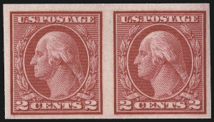 Sale Number 1061, Lot Number 3938, 1912-14 Washington-Franklin Issue (Scott 407-459)2c Carmine, Ty. I, Imperforate Coil (459), 2c Carmine, Ty. I, Imperforate Coil (459)