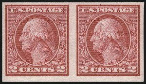 Sale Number 1061, Lot Number 3939, 1912-14 Washington-Franklin Issue (Scott 407-459)2c Carmine, Ty. I, Imperforate Coil (459), 2c Carmine, Ty. I, Imperforate Coil (459)