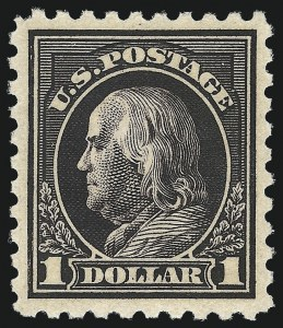 Sale Number 1061, Lot Number 3941, 1915-17 Washington-Franklin Issues (Scott 460-518b)$1.00 Violet Black (460), $1.00 Violet Black (460)