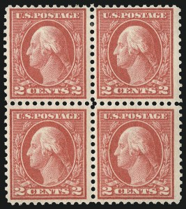 Sale Number 1061, Lot Number 3943, 1915-17 Washington-Franklin Issues (Scott 460-518b)2c Pale Carmine Red, Ty. I (461), 2c Pale Carmine Red, Ty. I (461)