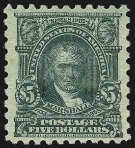 Sale Number 1061, Lot Number 3962, 1915-17 Washington-Franklin Issues (Scott 460-518b)$5.00 Light Green (480), $5.00 Light Green (480)