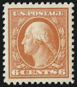 Sale Number 1061, Lot Number 3971, 1915-17 Washington-Franklin Issues (Scott 460-518b)6c Red Orange (506), 6c Red Orange (506)