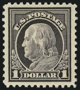 Sale Number 1061, Lot Number 3975, 1915-17 Washington-Franklin Issues (Scott 460-518b)$1.00 Violet Brown (518), $1.00 Violet Brown (518)