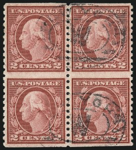 Sale Number 1061, Lot Number 3992, 1917-22 Issues (Scott 519-573)2c Carmine Rose, Ty. III, Rotary Perf 11 x 10, Vertical Pair, Imperforate Horizontally (540a), 2c Carmine Rose, Ty. III, Rotary Perf 11 x 10, Vertical Pair, Imperforate Horizontally (540a)