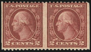 Sale Number 1061, Lot Number 3995, 1917-22 Issues (Scott 519-573)2c Carmine Rose, Ty. III, Rotary Perf 11 x 10, Horizontal Pair, Imperforate Vertically (540b), 2c Carmine Rose, Ty. III, Rotary Perf 11 x 10, Horizontal Pair, Imperforate Vertically (540b)