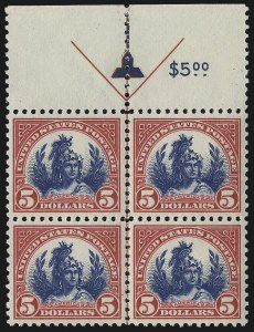 Sale Number 1061, Lot Number 4012, 1917-22 Issues (Scott 519-573)$5.00 Carmine & Blue (573), $5.00 Carmine & Blue (573)