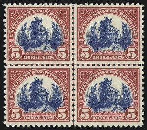 Sale Number 1061, Lot Number 4014, 1917-22 Issues (Scott 519-573)$5.00 Carmine & Blue (573), $5.00 Carmine & Blue (573)