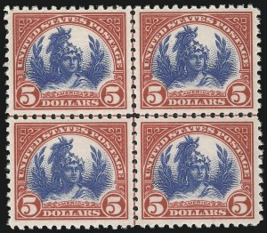 Sale Number 1061, Lot Number 4015, 1917-22 Issues (Scott 519-573)$5.00 Carmine & Blue (573), $5.00 Carmine & Blue (573)