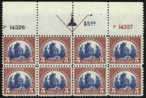 Sale Number 1061, Lot Number 4016, 1917-22 Issues (Scott 519-573)$5.00 Carmine & Blue (573), $5.00 Carmine & Blue (573)