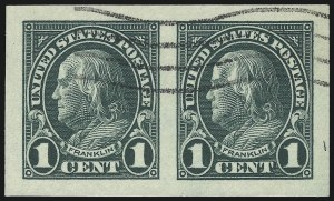 Sale Number 1061, Lot Number 4017, 1923 and Later Issues (Scott 575-1688)1c Green, Imperforate (575), 1c Green, Imperforate (575)