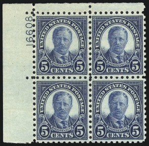 Sale Number 1061, Lot Number 4019, 1923 and Later Issues (Scott 575-1688)5c Blue, Perf 10 (586), 5c Blue, Perf 10 (586)