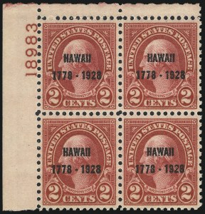 Sale Number 1061, Lot Number 4032, 1923 and Later Issues (Scott 575-1688)2c Hawaii Ovpt. (647), 2c Hawaii Ovpt. (647)