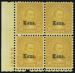 Sale Number 1061, Lot Number 4033, 1923 and Later Issues (Scott 575-1688)1c-10c Kans. Overprints (658-668), 1c-10c Kans. Overprints (658-668)