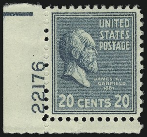 Sale Number 1061, Lot Number 4039, 1923 and Later Issues (Scott 575-1688)20c Presidential (825), 20c Presidential (825)