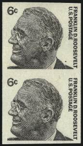 Sale Number 1061, Lot Number 4042, 1923 and Later Issues (Scott 575-1688)6c Roosevelt Vertical Coil, Imperforate (1298a), 6c Roosevelt Vertical Coil, Imperforate (1298a)