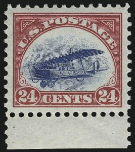 Sale Number 1061, Lot Number 4046, Air Post24c Carmine Rose & Blue, 1918 Air Post (C3), 24c Carmine Rose & Blue, 1918 Air Post (C3)