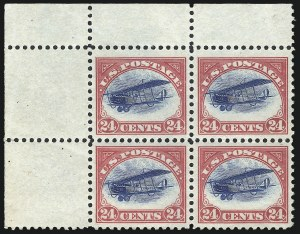 Sale Number 1061, Lot Number 4047, Air Post24c Carmine Rose & Blue, 1918 Air Post (C3), 24c Carmine Rose & Blue, 1918 Air Post (C3)