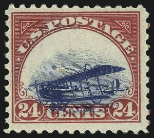 "Sale Number 1061, Lot Number 4049, Air Post24c Carmine and Blue, ""Grounded Plane"" (C3 var.), 24c Carmine and Blue, ""Grounded Plane"" (C3 var.)"