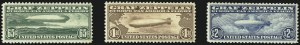 Sale Number 1061, Lot Number 4059, Air Post65c-$2.60 Graf Zeppelin (C13-C15), 65c-$2.60 Graf Zeppelin (C13-C15)