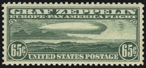 Sale Number 1061, Lot Number 4063, Air Post65c Graf Zeppelin (C13), 65c Graf Zeppelin (C13)