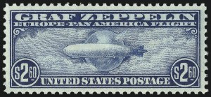 Sale Number 1061, Lot Number 4070, Air Post$2.60 Graf Zeppelin (C15), $2.60 Graf Zeppelin (C15)