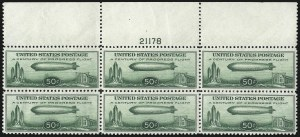 Sale Number 1061, Lot Number 4078, Air Post50c Chicago Zeppelin (C18), 50c Chicago Zeppelin (C18)