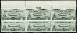 Sale Number 1061, Lot Number 4080, Air Post50c Chicago Zeppelin (C18), 50c Chicago Zeppelin (C18)