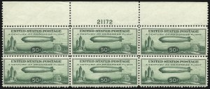 Sale Number 1061, Lot Number 4082, Air Post50c Chicago Zeppelin (C18), 50c Chicago Zeppelin (C18)