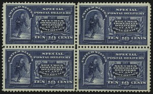Sale Number 1061, Lot Number 4091, Special Delivery, Registration10c Blue, Special Delivery (E4), 10c Blue, Special Delivery (E4)