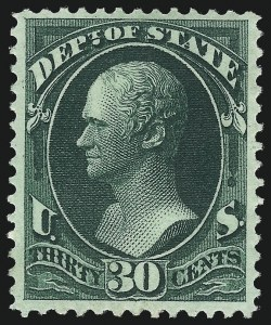 Sale Number 1061, Lot Number 4168, Officials, Cont.30c State (O66), 30c State (O66)