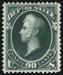 Sale Number 1061, Lot Number 4169, Officials, Cont.90c State (O67), 90c State (O67)