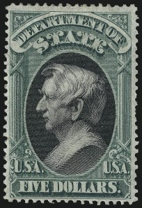 Sale Number 1061, Lot Number 4173, Officials, Cont.$5.00 State (O69), $5.00 State (O69)