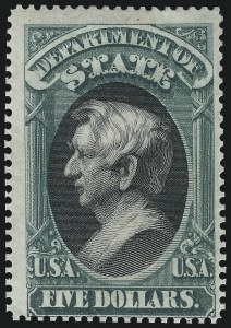Sale Number 1061, Lot Number 4174, Officials, Cont.$5.00 State (O69), $5.00 State (O69)