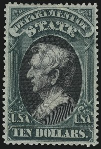 Sale Number 1061, Lot Number 4175, Officials, Cont.$10.00 State (O70), $10.00 State (O70)