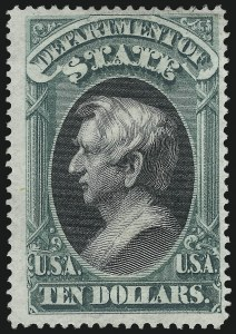 Sale Number 1061, Lot Number 4176, Officials, Cont.$10.00 State (O70), $10.00 State (O70)