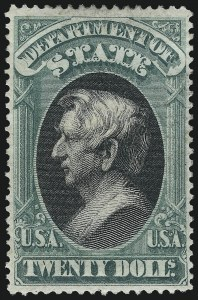 Sale Number 1061, Lot Number 4177, Officials, Cont.$20.00 State (O71), $20.00 State (O71)