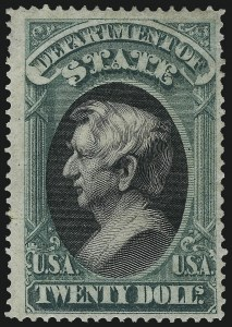 Sale Number 1061, Lot Number 4178, Officials, Cont.$20.00 State (O71), $20.00 State (O71)