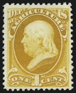 Sale Number 1061, Lot Number 4186, Officials, Cont.1c Agriculture, Soft Paper (O94), 1c Agriculture, Soft Paper (O94)
