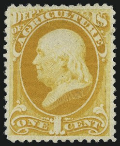 Sale Number 1061, Lot Number 4187, Officials, Cont.1c Agriculture, Soft Paper (O94), 1c Agriculture, Soft Paper (O94)