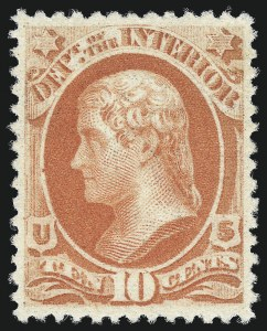 Sale Number 1061, Lot Number 4188, Officials, Cont.10c Interior, Soft Paper (O100), 10c Interior, Soft Paper (O100)