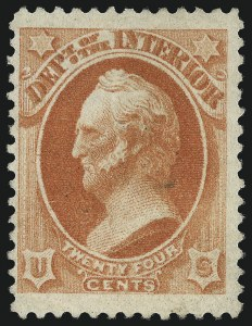 Sale Number 1061, Lot Number 4190, Officials, Cont.24c Interior, Soft Paper (O103), 24c Interior, Soft Paper (O103)