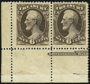 Sale Number 1061, Lot Number 4192, Officials, Cont.6c Treasury, Soft Paper (O110), 6c Treasury, Soft Paper (O110)