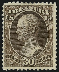 Sale Number 1061, Lot Number 4193, Officials, Cont.30c Treasury, Soft Paper (O112), 30c Treasury, Soft Paper (O112)